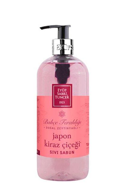 Eyüp Sabri Tuncer Japon Kiraz Çiçeği Doğal Zeytinyağlı 500ml Sıvı Sabun Pet Şişe