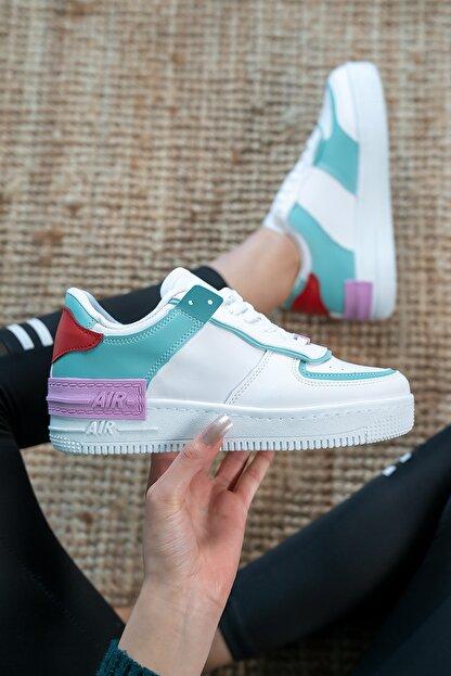 Bartrobel Kadın Beyaz Yeşil Günlük Spor Ayakkabı