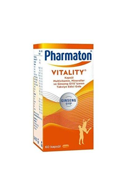 Pharmaton Vitality 60 Kapsül Multivitamin Mineral Skt: 04/2022