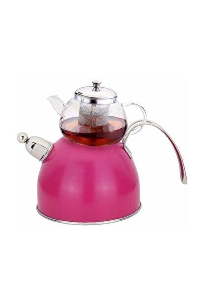 Tantitoni Fuşya Düdüklü Çaydanlık Takımı 980 ml
