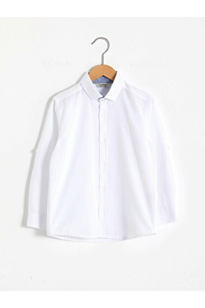 LC Waikiki Erkek Beyaz Düz Gömlek