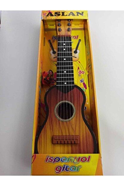 BURAKKRTSY Aslan Toys 50 Cm Askılı Telli Oyuncak Gitar (Poşetli Gitar)