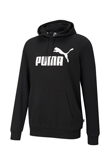 Puma ESS BIG LOGO HOODIE TR Siyah Erkek Sweatshirt 101085575