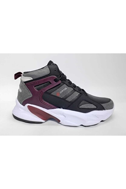 MP Kadın Siyah Bordo Spor Ayakkabı 202-1401