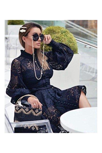 Ahsenserra Gracia Güpür Elbise