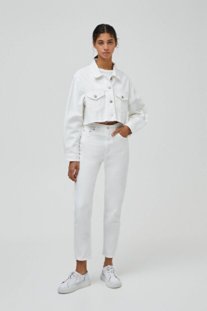Pull & Bear Kadın Mom Fit Basic Jean