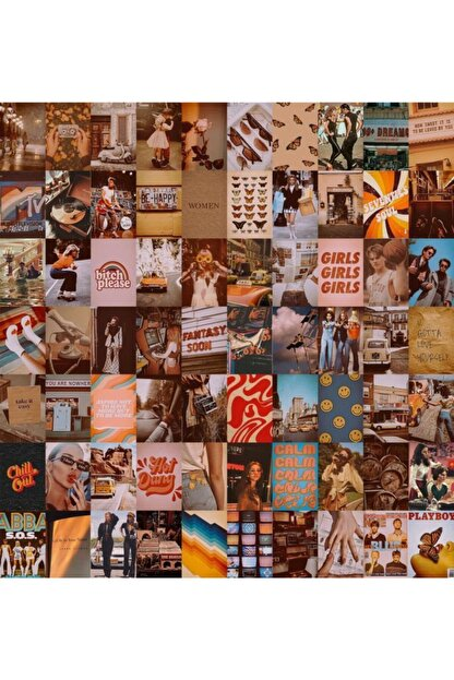 bukashops Vintage Retro 70'lı Duvar Posteri Seti