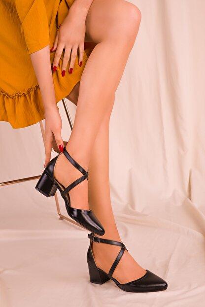 Soho Exclusive Siyah Kadın Klasik Topuklu Ayakkabı 14392
