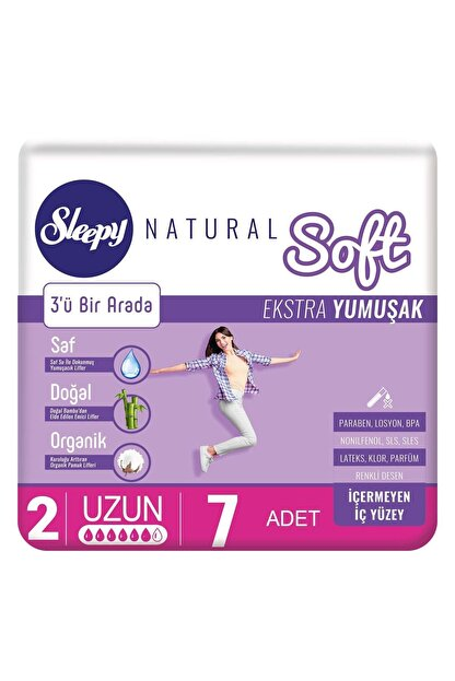 Sleepy Natural Soft Ekstra Yumuşak Uzun 7 Ped