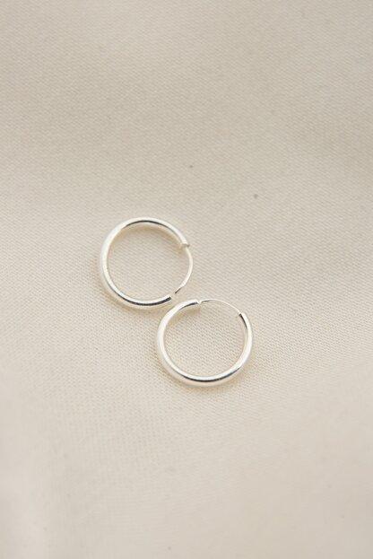 Elika Silver Kadın 925 Ayar Gümüş Minimal Küpe