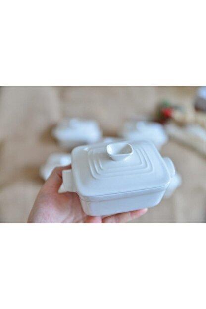 AROW 6 Lı Porselen Dikdörtgen Kapaklı Kase