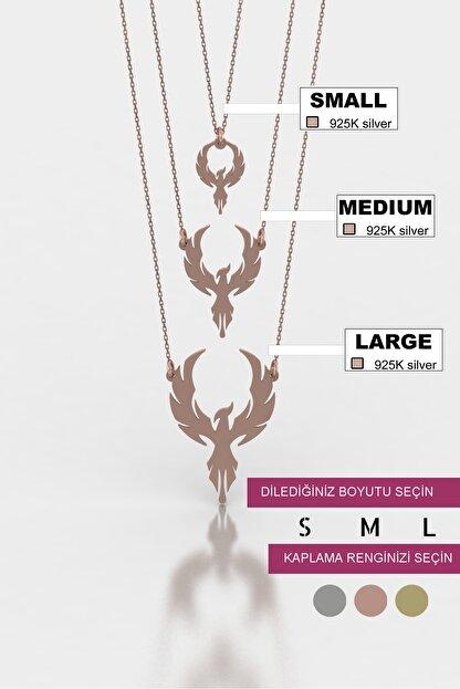 diamood jewelry Anka Kuşu Gümüş Kolye | Materyal Boyutunuzu S - M - L Den Birini Seçiniz