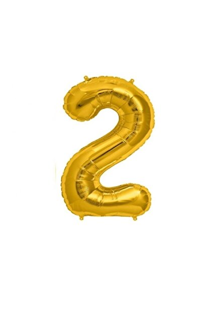 Çetinkaya Süs Folyo Helium Balloon Gold 2 Rakamlı (40 Inç 100 Cm)
