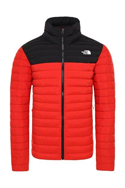 The North Face Stretch Down Erkek Outdoor Mont Kırmızı/Siyah