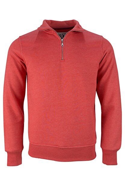 Fimerang Diagonal Yarım Fermuarlı Sweatshirt