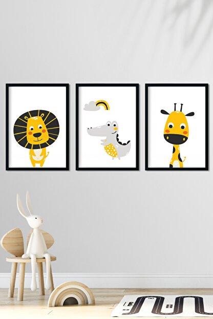 Norm Design Bebek & Çocuk Odası Çerçeveli Poster Tablo Seti
