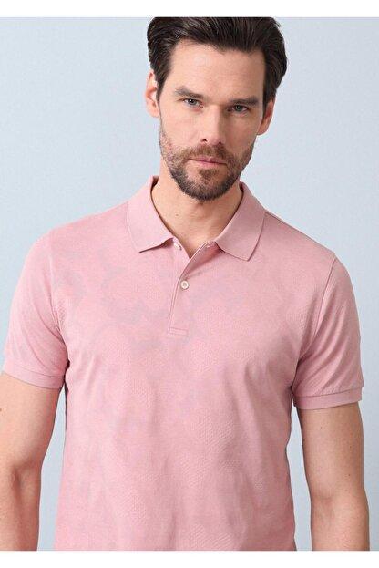 Ramsey Erkek Pembe Jakarlı Örme T - Shirt RP10119893