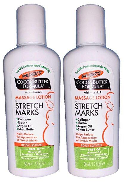 PALMER'S Cocoa Butter Formula Stretch Marks Massage Lotion 2 X 50 Ml - Hamile Çatlak Masaj Losyonu
