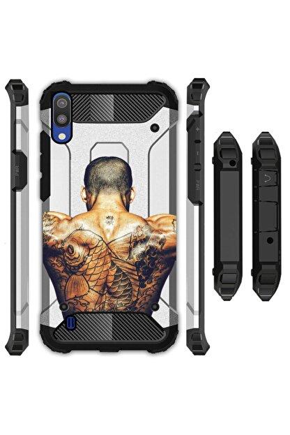 cupcase Samsung Galaxy M10 Kılıf Desenli Sert Korumalı Zırh Tank Kapak - Tattoo20