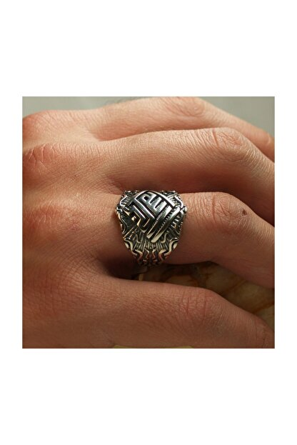 In Love Erkek Yüzük Yeni Tasarım Taşsız Gümüş