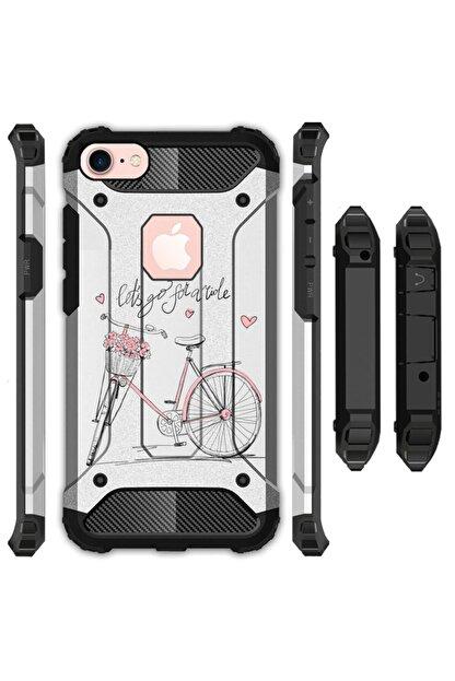 cupcase Iphone 5 - 5s Kılıf Desenli Sert Korumalı Zırh Tank Kapak - Bike Like