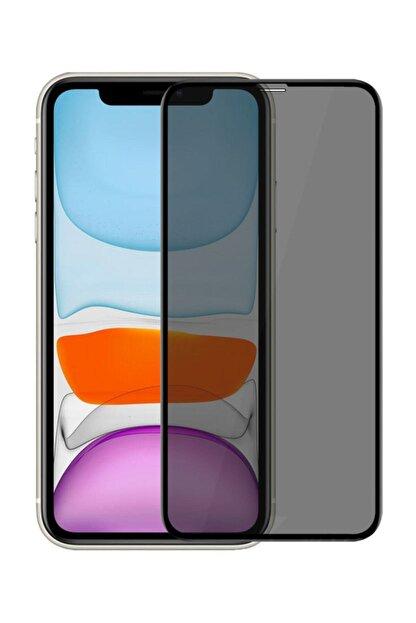 Omelo Huawei P40 Lite Kırılmaz Ekran Koruyucu Gizlilik Filtreli Hayalet Cam Komple Kapatan Cam Hediyeli