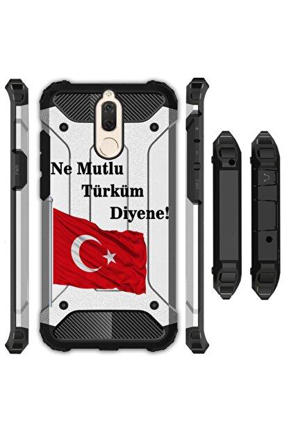 cupcase Huawei Mate 10 Lite Kılıf Desenli Sert Korumalı Zırh Tank Kapak - Türk
