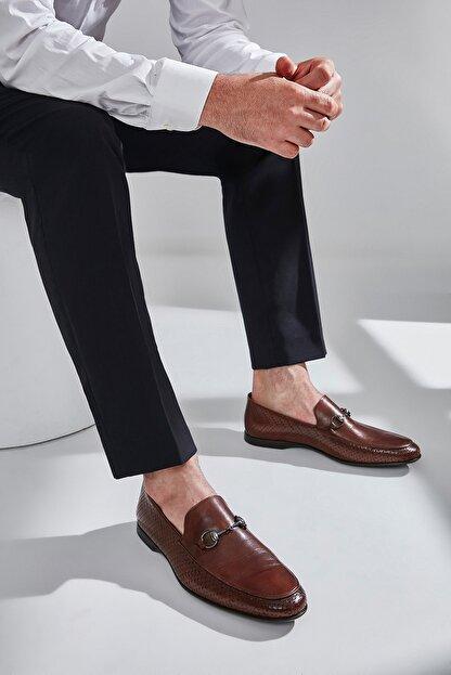 Hotiç Hakiki Deri Kahverengi Erkek Ayakkabı