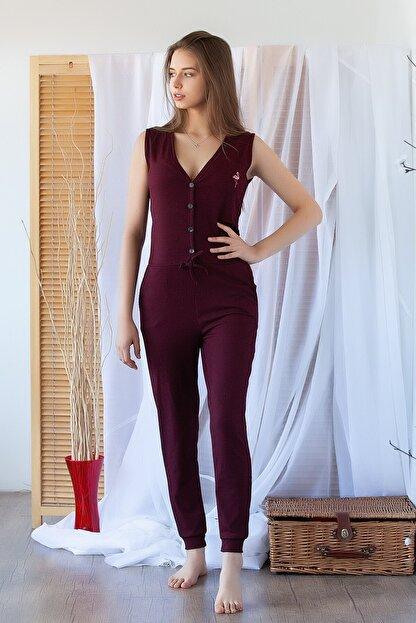 Camasircity Kadın Bordo Flamingo Tulum