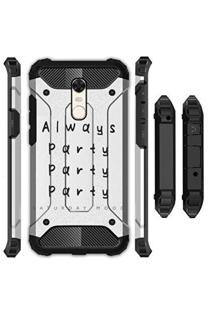 cupcase Xiaomi Redmi 5 Kılıf Desenli Sert Korumalı Zırh Tank Kapak - Party