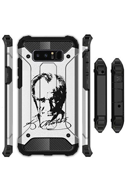 cupcase Xiaomi Redmi Note 8 Kılıf Desenli Sert Korumalı Zırh Tank Kapak - Atatürk