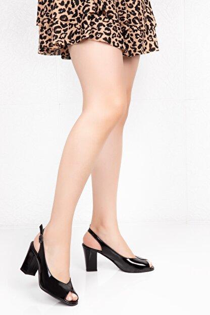 Potini Ayakkabı Kadın Siyah Topuklu Ayakkabı