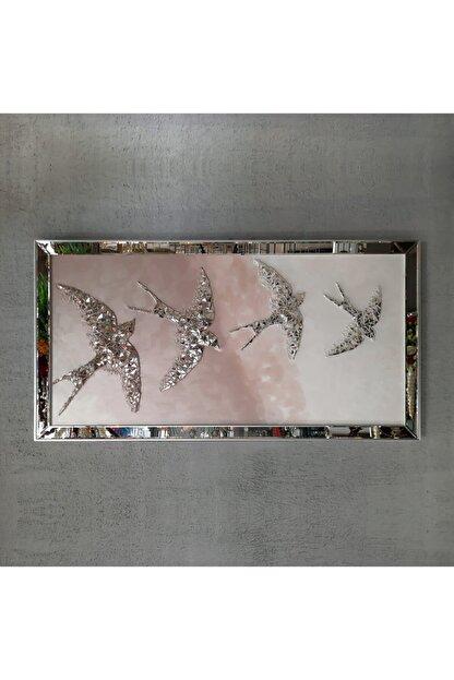 Atlantis Tablo Kırlangıç Pudra Dörtlü Mozaik Ayna 80x155 Cm