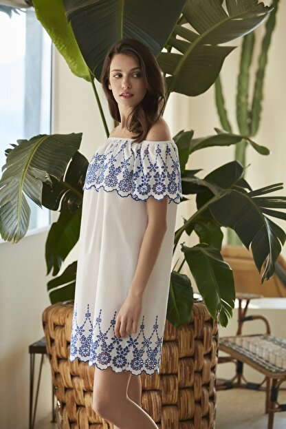 Penye Mood Kadın Lacivert Elbise