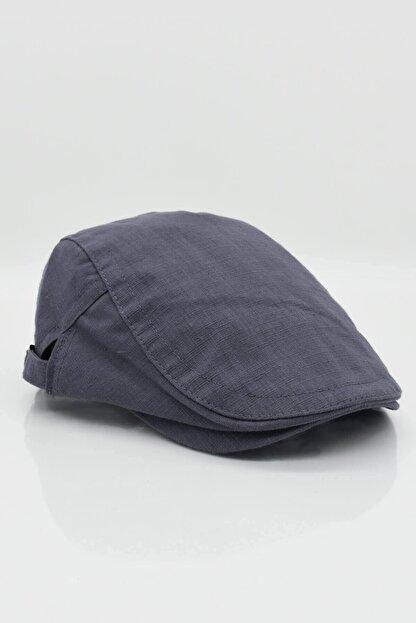 Külah Erkek Şapka Yazlık Keten Spor Kasket - Gri