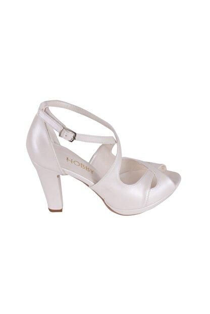 Hobby Beyaz Abiye Kadın Ayakkabı 104