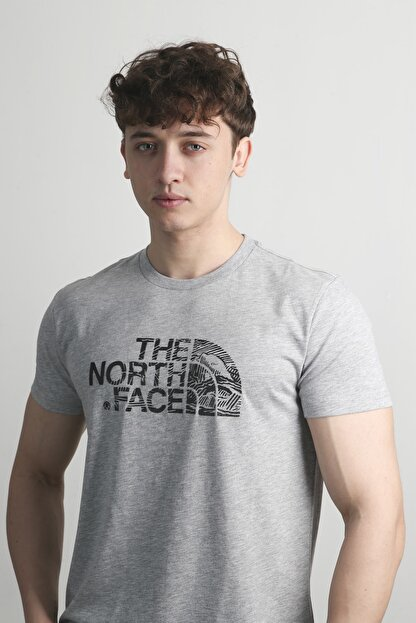THE NORTH FACE Erkek Gri Tişört