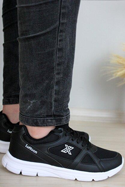 Giyyin Siyah Beyaz Unisex Sneaker Ltn0251
