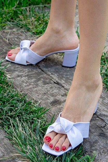 Fox Shoes Beyaz Kadın Terlik H643245204
