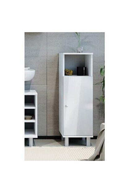 Taç-Dek Taç Dekorasyon Tek Kapaklı Yer Banyo Dolabı Beyaz