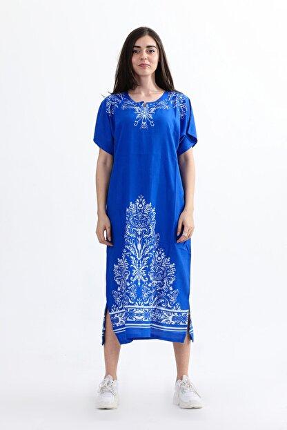 Arven Kadın Yarım Kol Geniş Kesim Elbise