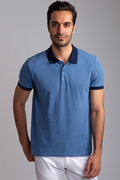 Dufy PETROL POLO YAKA ERKEK T-SHIRT - SLIM FIT