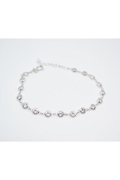 Adal Silver Kadın 925 Ayar Gümüş Zirkon Sıra Taşlı Bileklik