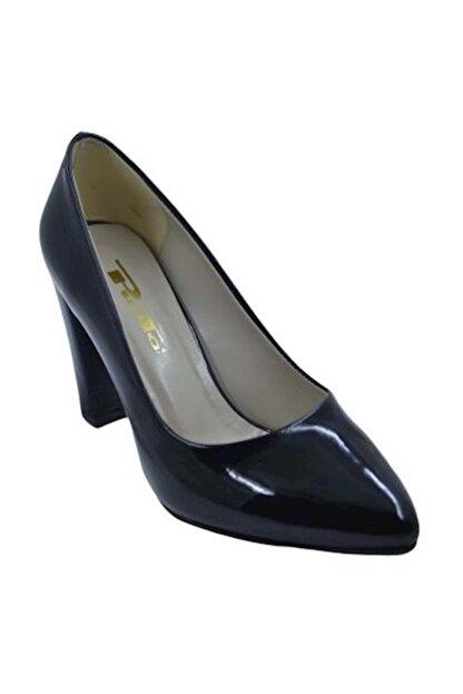 PUNTO 462003 Kadın Topuklu Ayakkabı Siyah-Rugan - 40