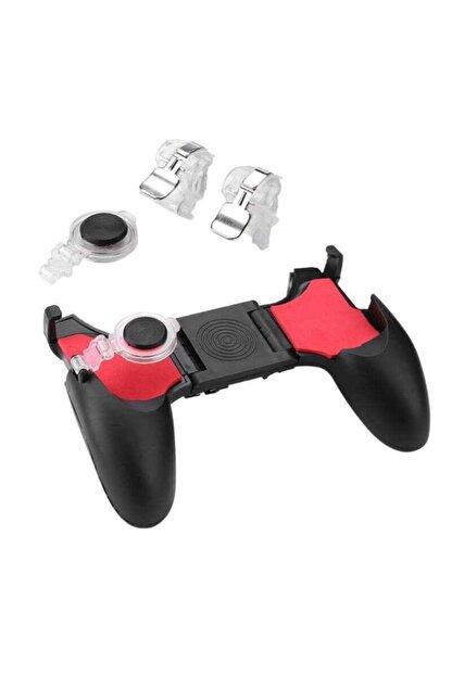 Fibaks Realme 5i Için Pubg Mobil Oyun Konsolu Aparatı Ateş Tetik Gamepad Joystick 5 In 1 Katlanabilir