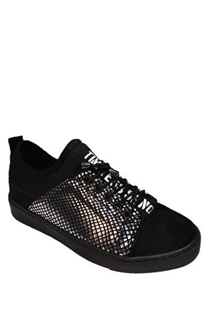 beyzasaylık Kadın Gümüş Detaylı Siyah Casual Ayakkabı