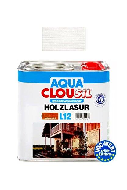 Clou L12 Su Bazlı Renkli Kokusuz Ahşap Koruyucu No 17 Beyaz 2,5 Lt