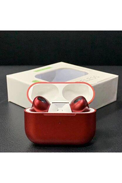 LETANG Airpods Pro Bluetooth 5.1 Kulaklık Apple Iphone Android Uyumlu Bluetooth Kulaklık-kırmızı