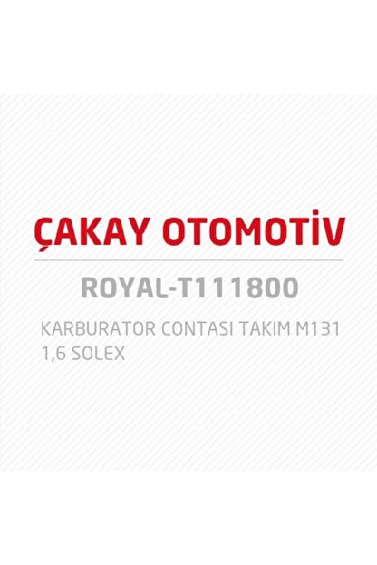 Royal Karburator Contası Takım M131 1,6 Solex