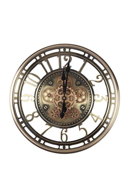 ACAR Loft Sessiz Çarklı Duvar Saati - Gold